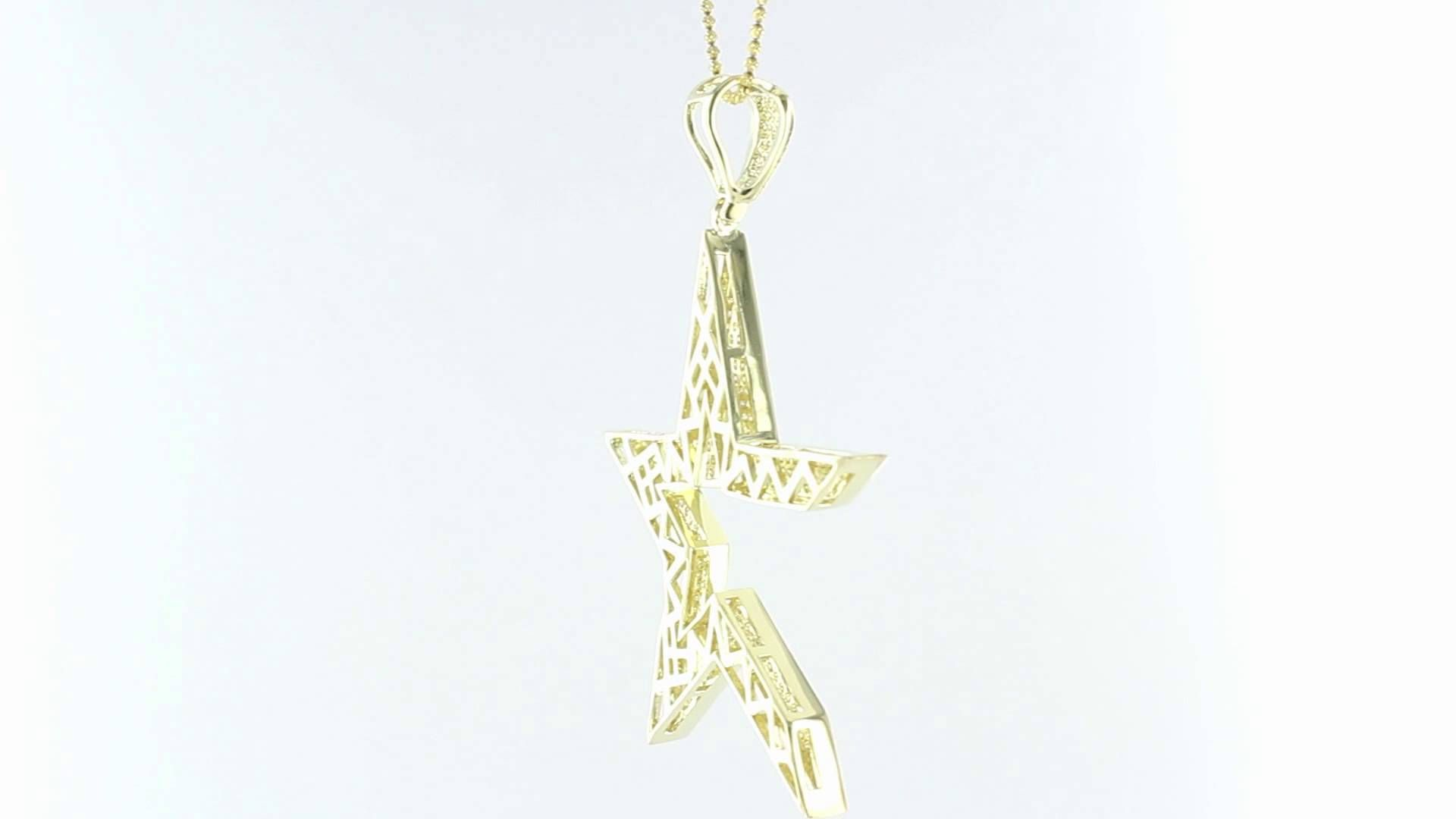 Gold Tone Astro Star Pendant
