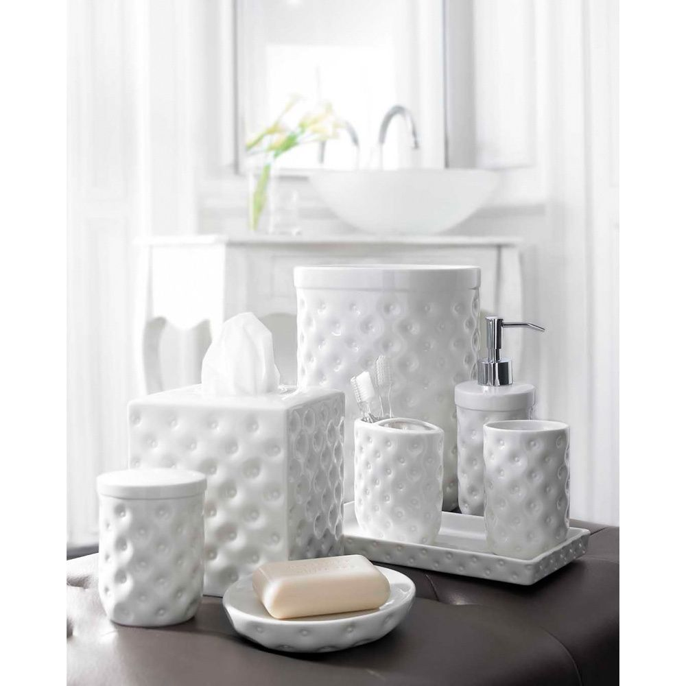 Classic White Porcelain Bath Accessory Collection | Overstock.com ...