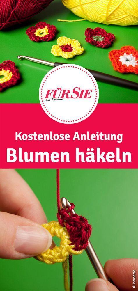 Photo of Anleitung für Häkelblumen zum Selbermachen – Basteln ideen