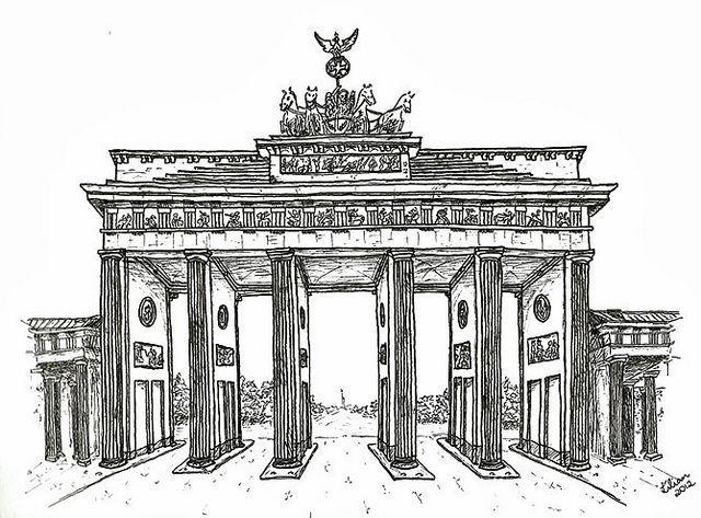 Brandenburg Gate By Lilian Lacerda Via Flickr Zeichnungen Zeichnung Bilder