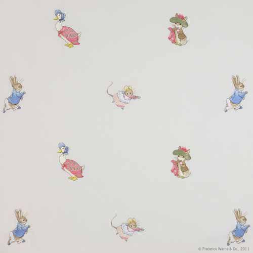 Beatrix Potter by Jane Churchill - Cream/ Multi : Wallpaper Direct