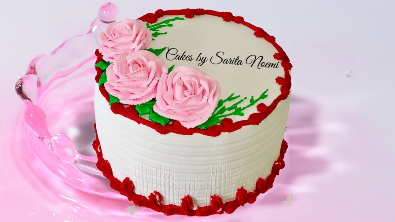 How Decorate A Cake With Flowers For Mothers Day Cake Decorating Ideas Flower Cake Cake Decorating Mothers Day Cake