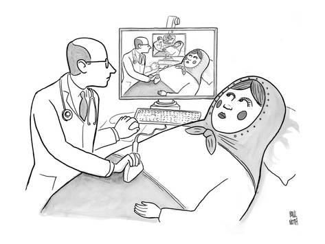 Premium Giclee Print: A doctor is seen giving an s