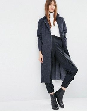 ASOS Oversized Coat with Raw Edges