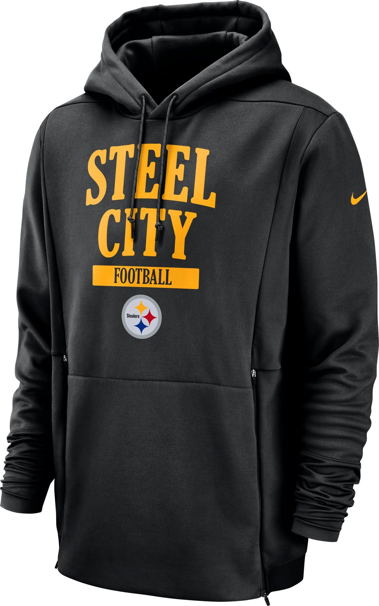 newest collection 809bd 11881 Nike Men's Pittsburgh Sideline Therma-FIT Local Black ...