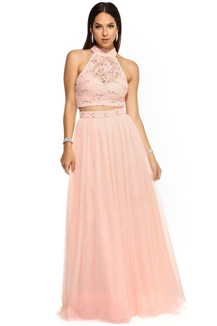 FINAL SALE- Britt Pink Tulle Prom Dress | Tulle prom dress, Pink ...