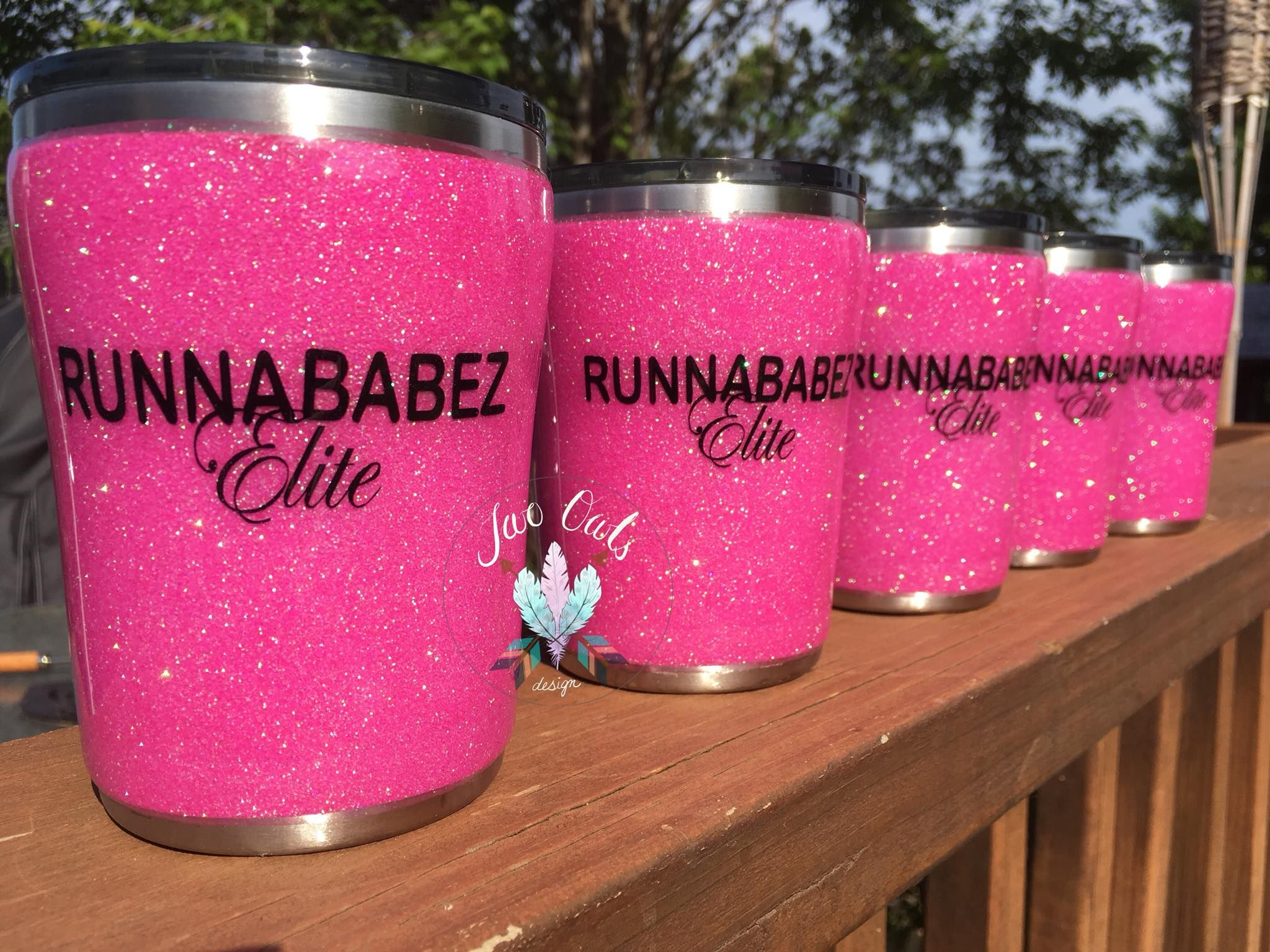 Glitter Stainless Steel Tumbler Cup 10 Oz Lowball Kids Cup Running Team Twoowlsdesign