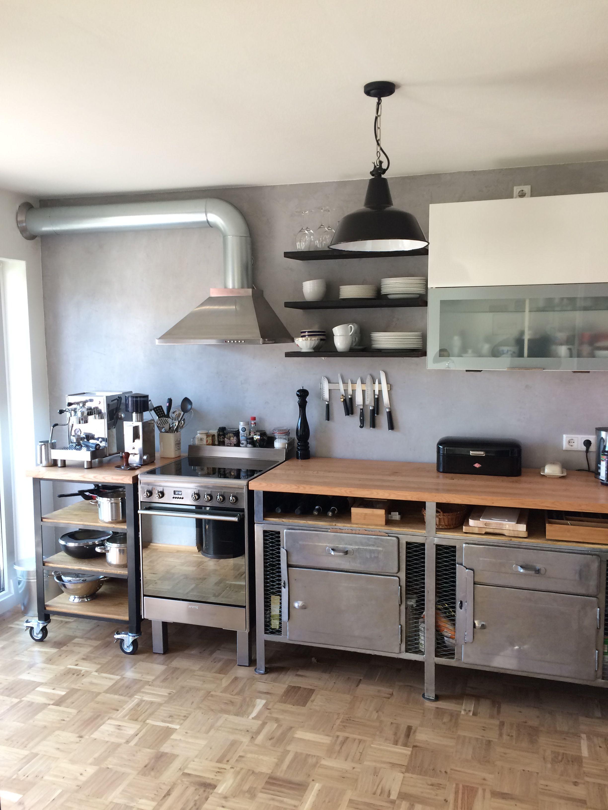 industrie design im wohnraum k che k che industrie design beton pinterest design. Black Bedroom Furniture Sets. Home Design Ideas