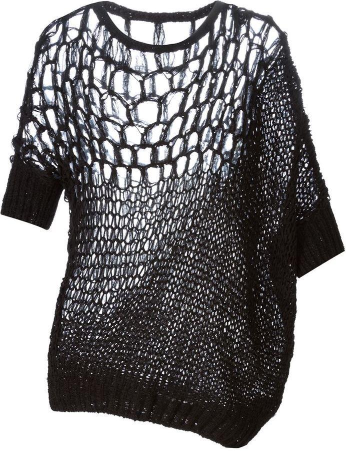 3ed4e8de2e6a4e Shop for '151 Tank' open knit sweater by A.F.Vandevorst at ShopStyle. Now  for Sold Out.