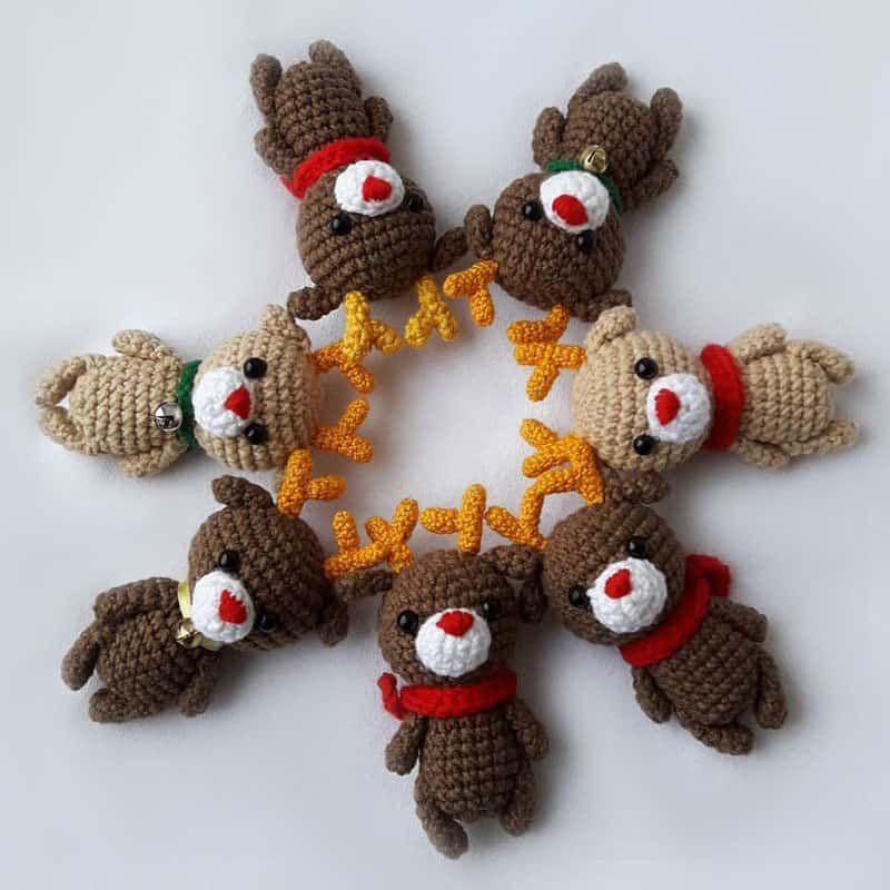 Patrón de amigurumi de renos de crochet gratis | Trol adorable ...