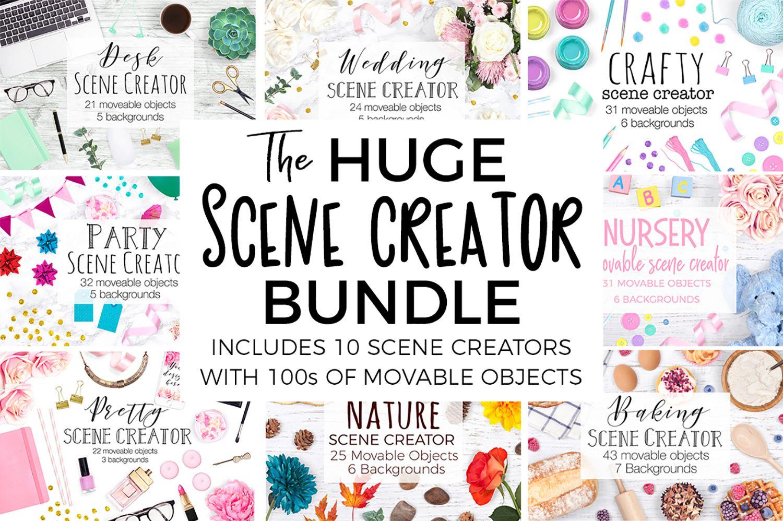 The Huge Scene Creator Bundle 213823 Scene Creators Design Bundles Scene Creator Free Packaging Mockup Design Mockup Free