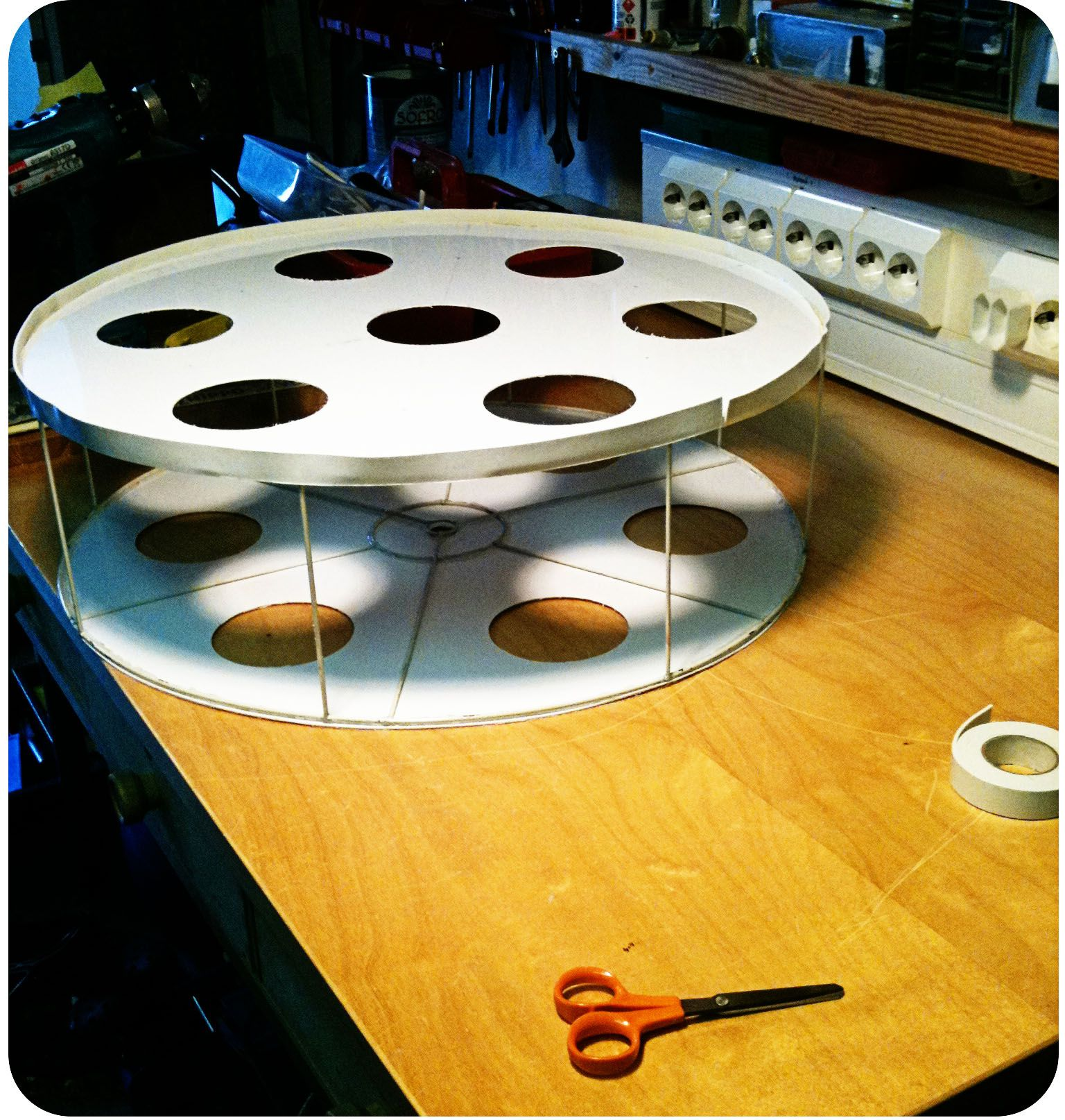 DIY Film Reel Lampshade out of Film Strips | Film reels and Crafty