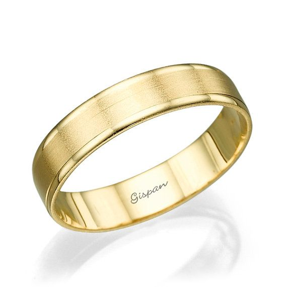 Mens Wedding Band Wedding Ring Gold wedding ring 14k gold ring