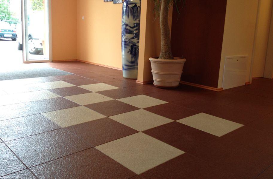 Slate Flex Tiles Interlocking Pvc Garage Flooring Garage Floor