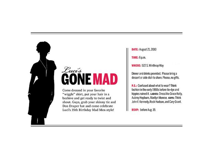 images of mad men parties   Invitation to Mad Men Party   Flickr - Photo Sharing!