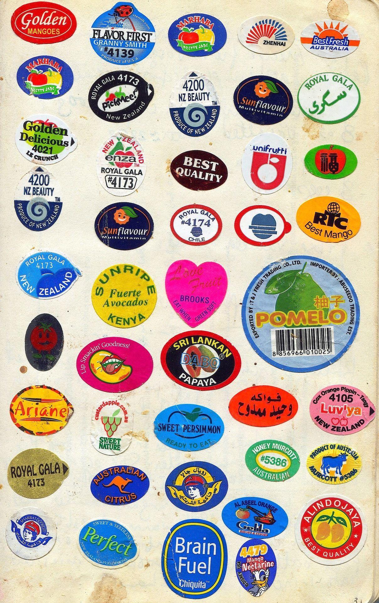 Fruit Stickers Sticker Design Design Museum Fruit Labels