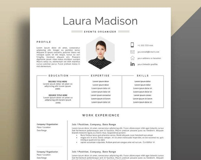 2 Page Cv 2 Page Resume Template Cover Letter Template