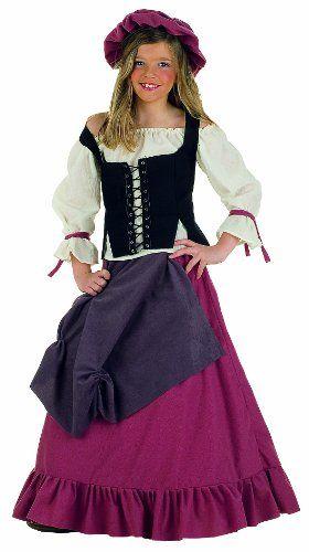 sale retailer e022a a50e5 Vestito Medievale Per Bambina - Vestito Da Garzona ...