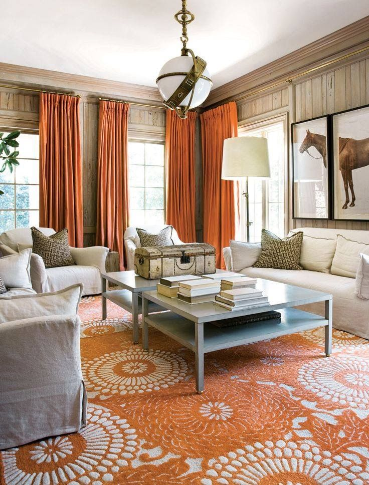 Pinglenn Ulrik Halvorsen On Carpets  Pinterest  Simple Designs Alluring Orange Curtains For Living Room Inspiration