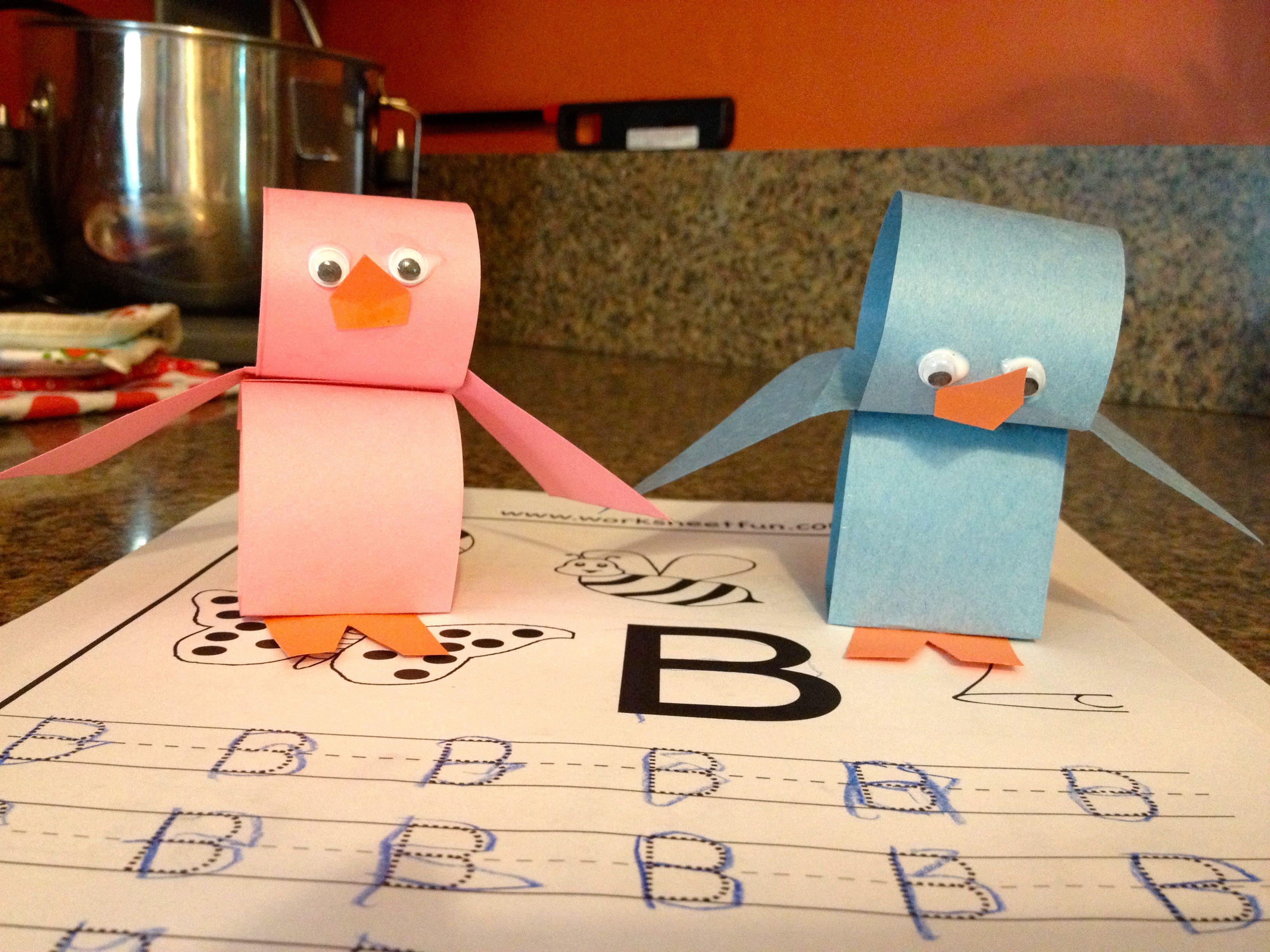 construction paper birdies