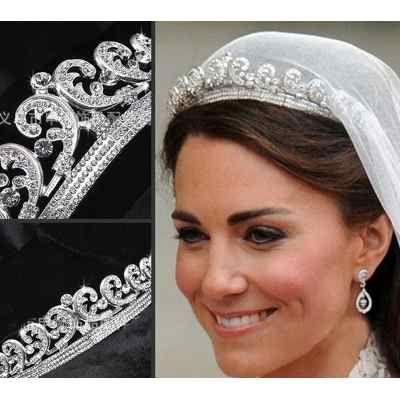 Coroa Tiara Noiva Princesa Kate Prata Com Pedras Strass - R  85 b7538e0cf3d