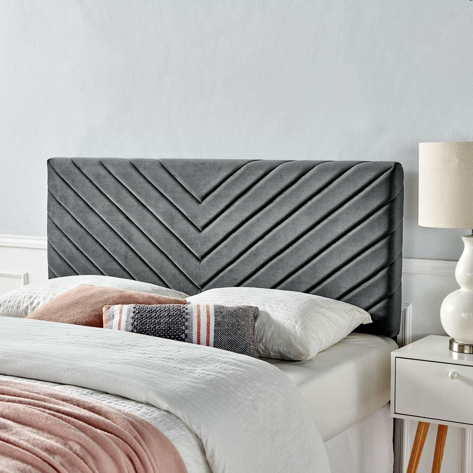 Colvard Upholstered Panel Headboard In 2020 Panel Headboard Twin Headboard Headboard