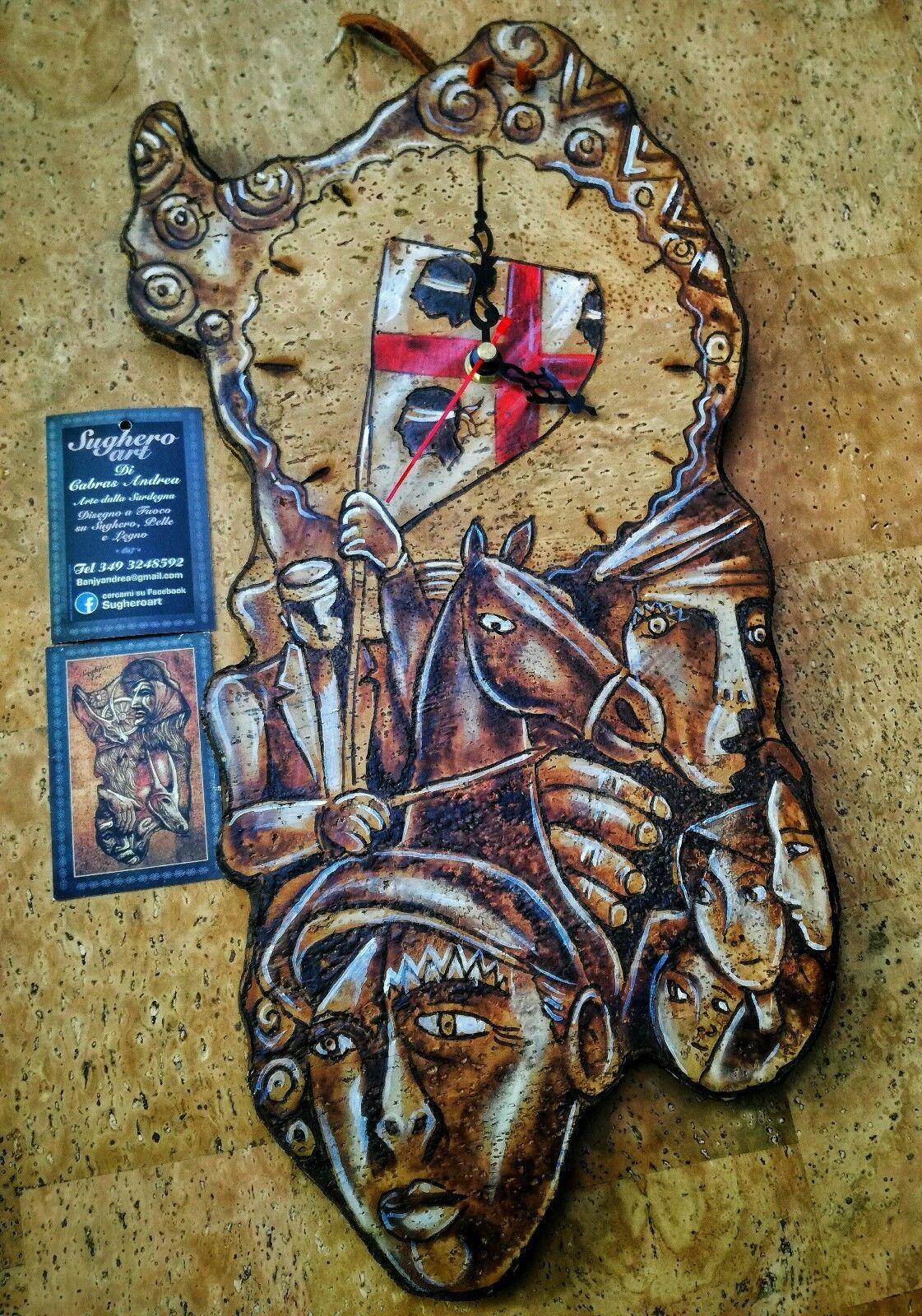 Orologi Da Parete Sardegna Sughero Artigianato Sardo Souvenir  # Muebles Momposinos