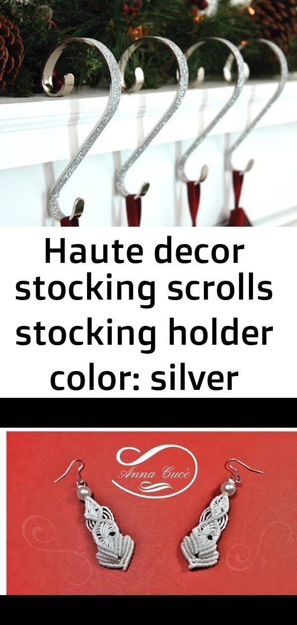 Haute Decor Stocking Scrolls Stocking Holder Color Silver Glitter Tutorial macrame earrings  Katy  Diy tutorial  YouTube Premium handicrafts Yes no doubt the macrame addi...