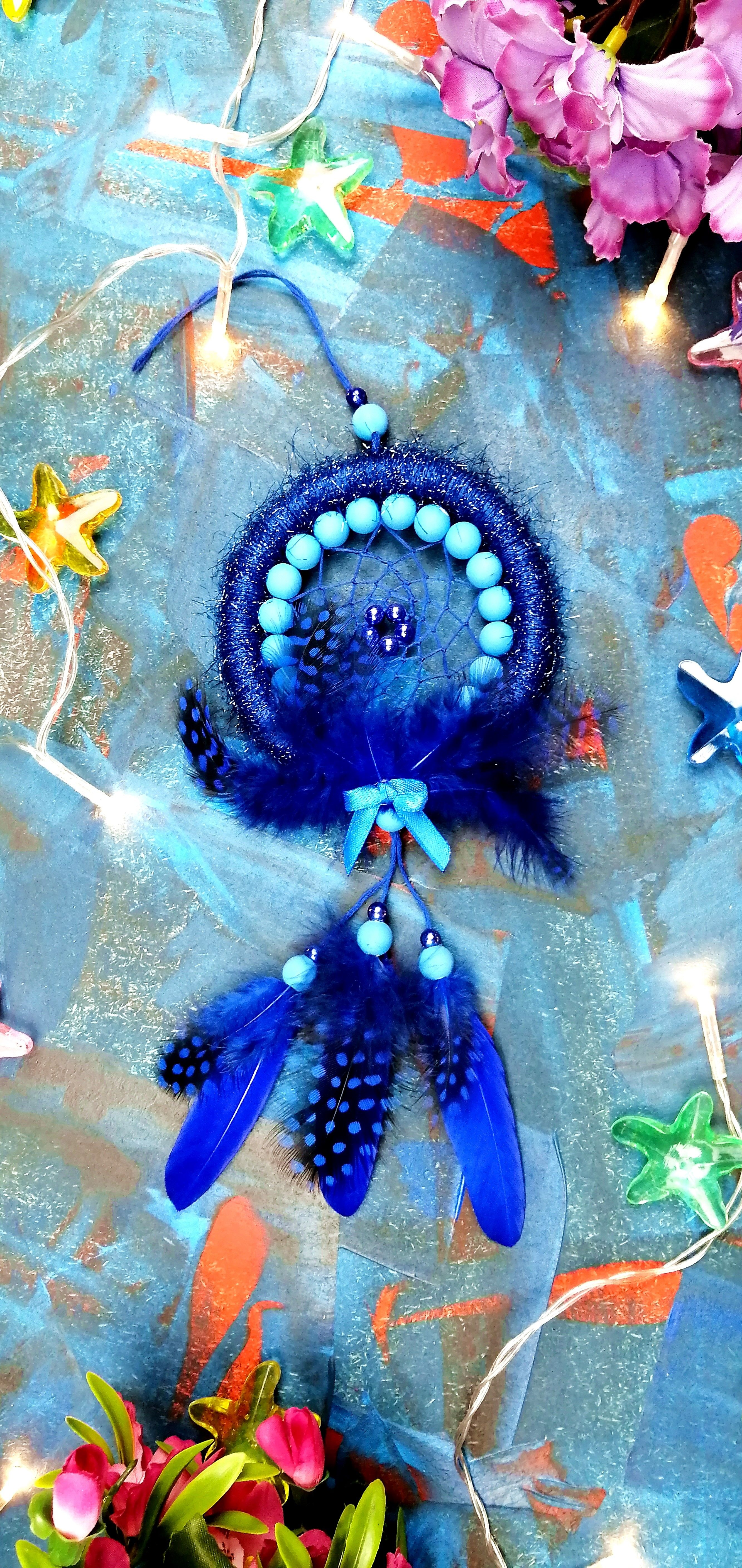 Dream Catcher mini Dreamcatcher blue Feather Valentine's