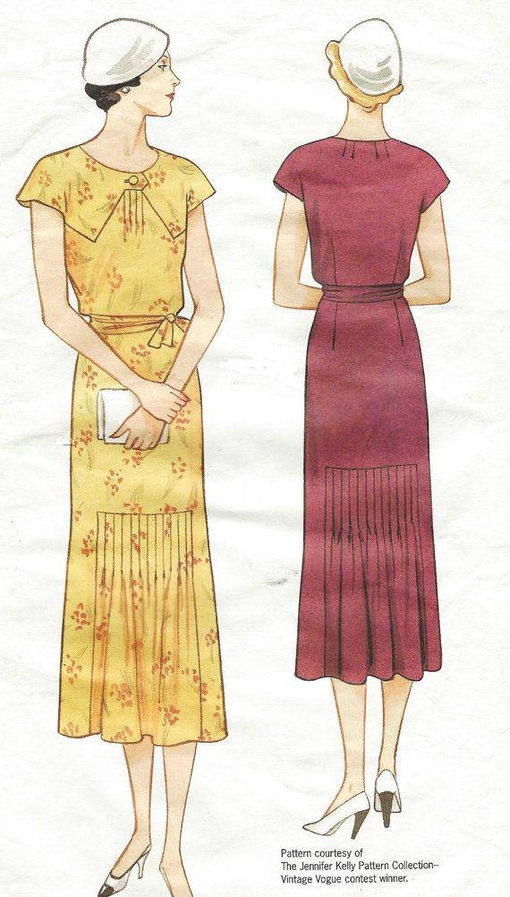 OOP Vogue Sewing Pattern 2671 Womens 1930s Dress Vogue Vintage Model ...
