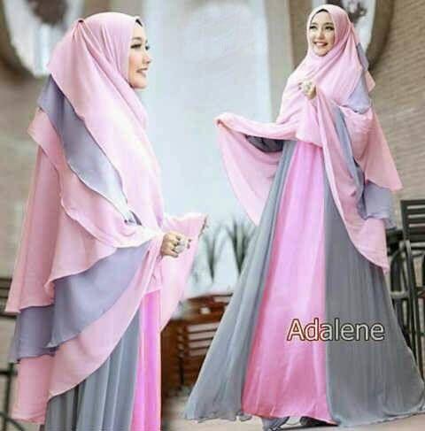 baju gamis pesta terbaru kekinian mahessa milo niqab and