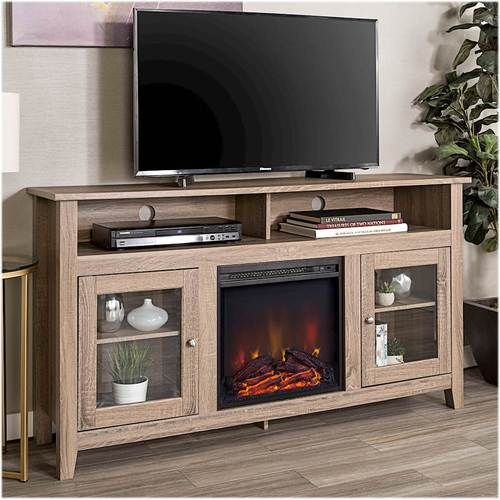 Walker Edison Freestanding Fireplace Cabinet Tv Stand For Most