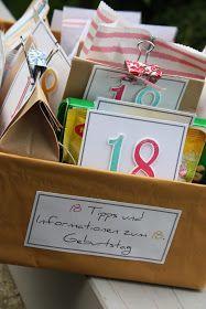 18 Geburtstag Geschenk Diy Geschenkideen