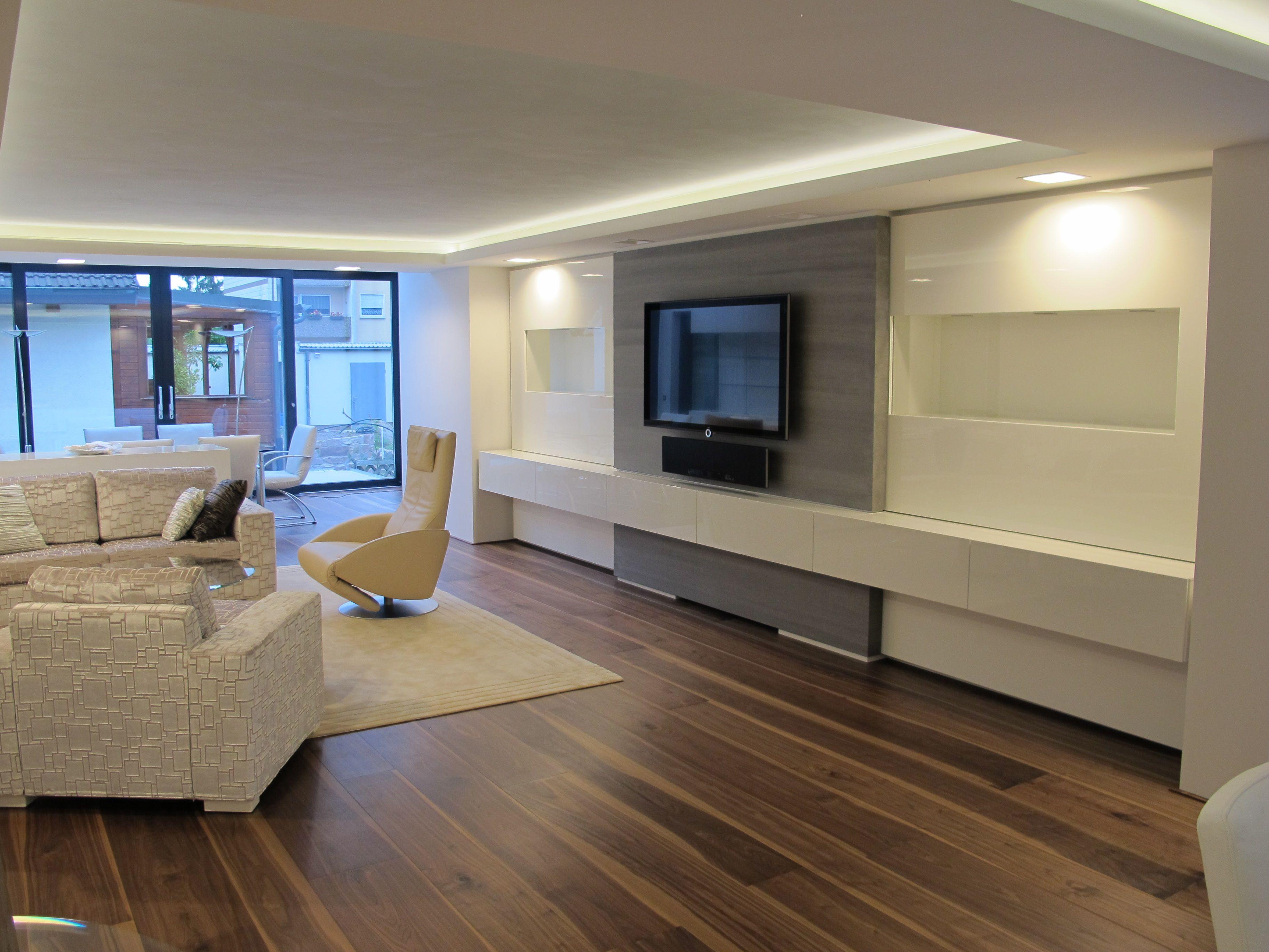 Parkett Nussbaum geölt | Fußboden | Parkett, Wohnzimmer modern und ...