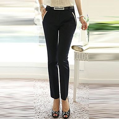 Loongzy Women's Thin Leisure Harem Solid Color Black Pants – USD $ 19.99