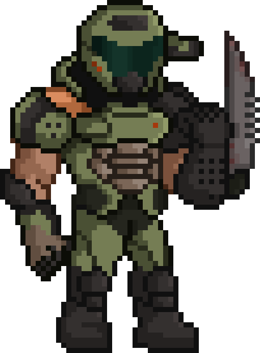 Doom Slayer Doom Sprite Doom Pixel Art Slayer Meme