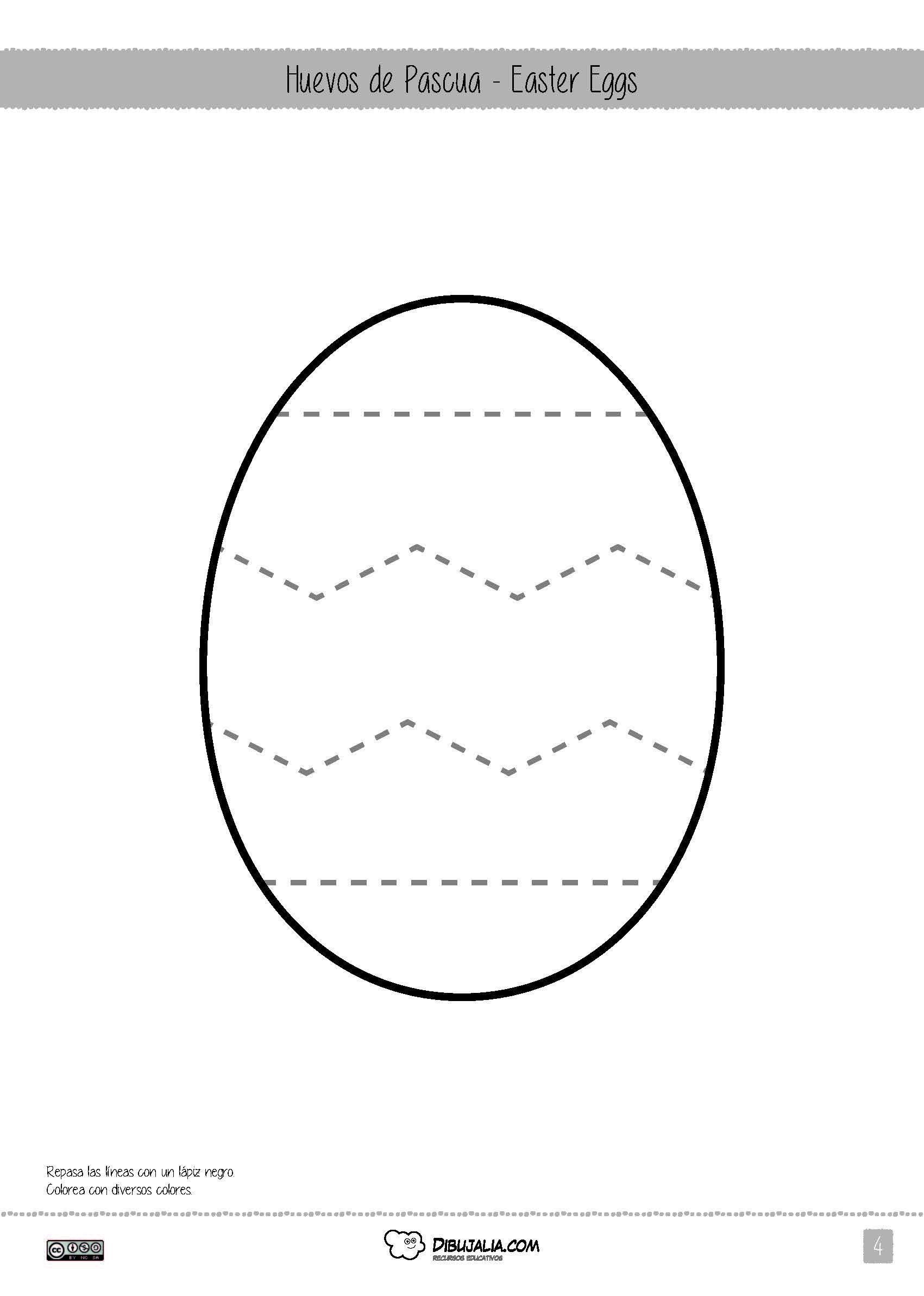 easter-eggs-dibujalia-2015_P4 | Dibujos | Pinterest | Pascua para ...