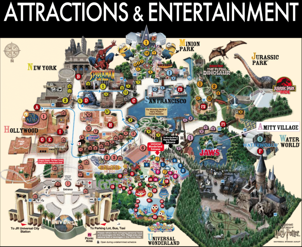 Universal Studios Japan Map Ultimate Guide to Minions, Harry Potter and Halloween at Universal