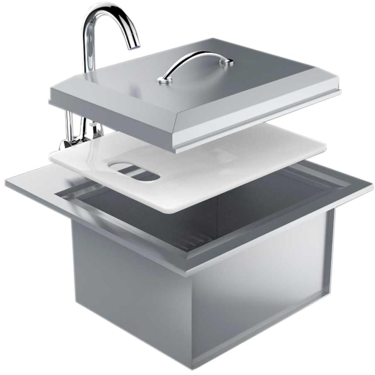 Sunstone Premium 21 X 20 Outdoor Rated Stainless Steel Drop In