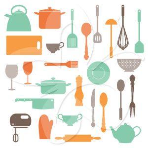 Delicieux Kitchen Utensils Clip Art Set
