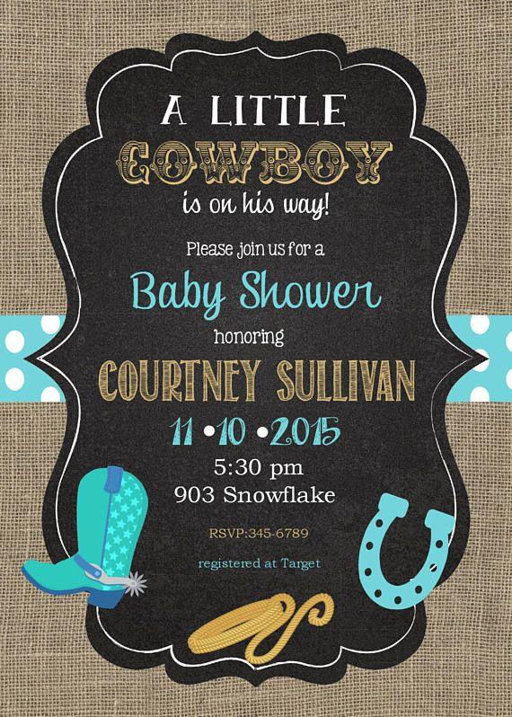 Cowboy baby shower invitations burlap chalkboard western baby cowboy baby shower invitations burlap chalkboard western baby filmwisefo