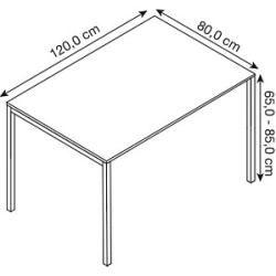 Photo of Bisley Cito höhenverstellbarer Schreibtisch weiß rechteckig Bisley