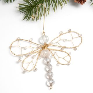 Beaded Dragonfly Ornament (India) | Season - Christmas - Ornaments ...