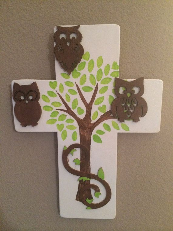 Owls on Tree cross by KraftyKreatorMarie on Etsy, $10.00