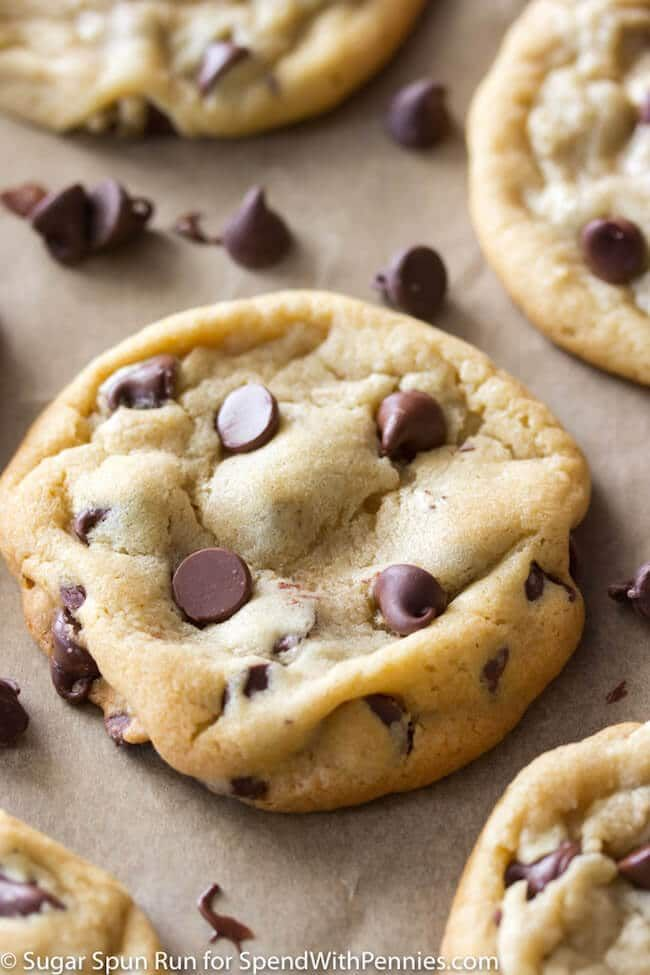 A recipe for easy, soft and chewy perfect chocolate chip cookies, with lots of great tips and tricks so you can have amazing cookies every time! #chocolatechipcookies