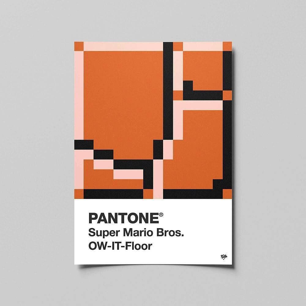 PANTONE Super Mario Bros. OW-IT-Floor #pantone #mystery #block ...
