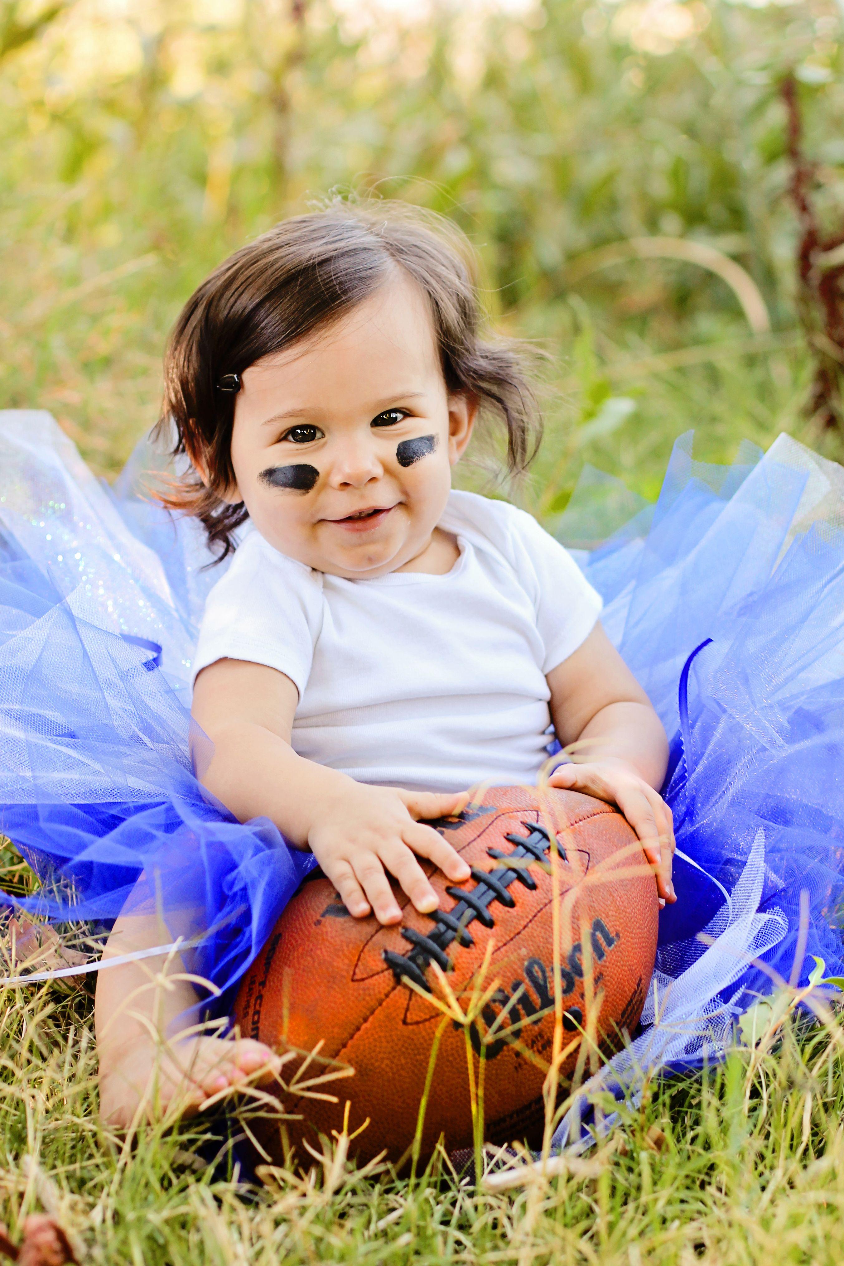 Outdoor photo shoot photography babies football tutu