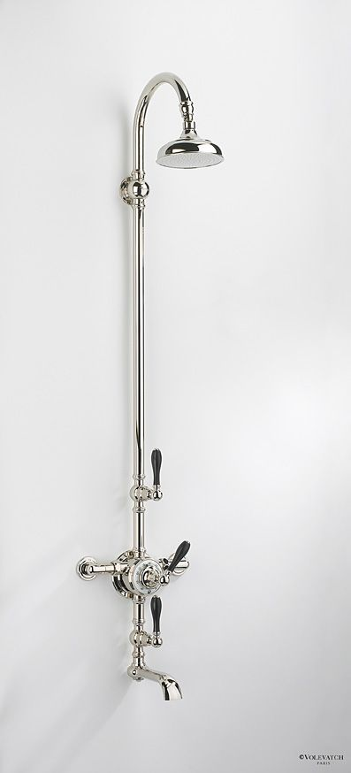 Exposed Shower Set With Swan Neck Shower Arm And Bath Filler.