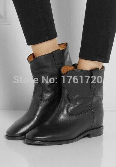 Encontrar Más Planos Información acerca de Nuevos botines moda 2015 mujeres pisos zapatos de plataforma hebilla del tobillo de cuero genuino botas tobillo mujer botas para la primavera otoño botas, alta calidad Planos de Bess Chen's Fashion Town en Aliexpress.com