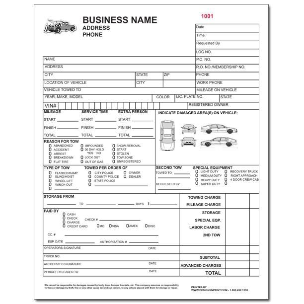 Product Details Designsnprint Tow Truck Receipt Template vb